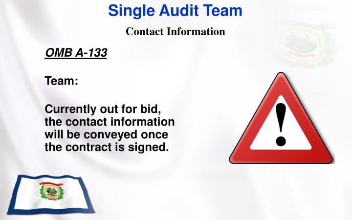 Single Audit Team