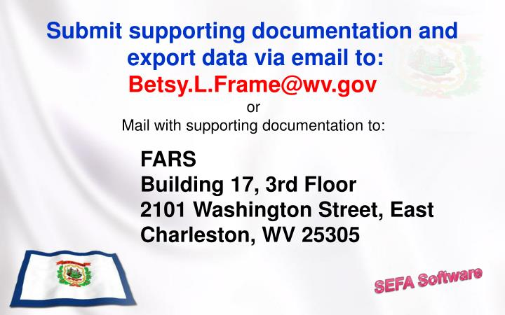 Submit supporting documentation and