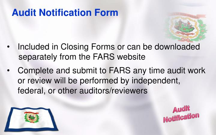 Audit Notification Form