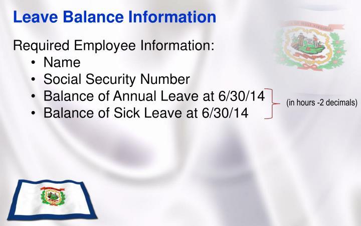 Leave Balance Information