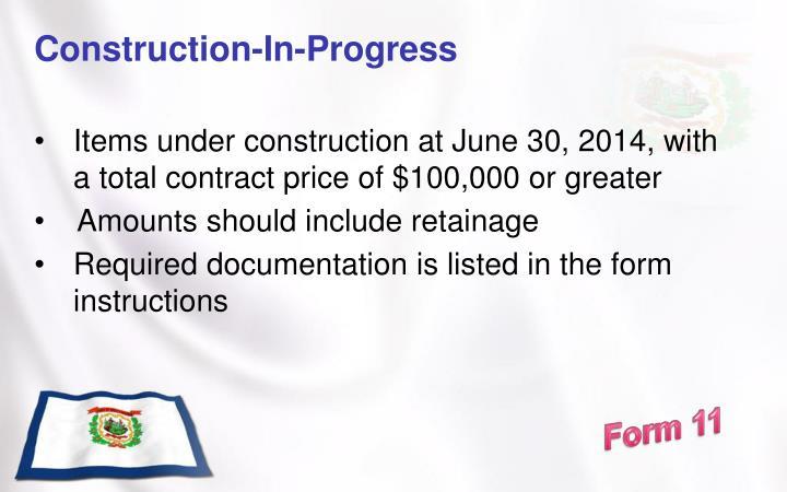 Construction-In-Progress