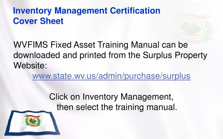 Inventory Management Certification