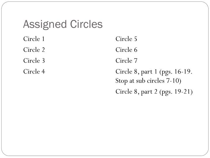 Assigned Circles