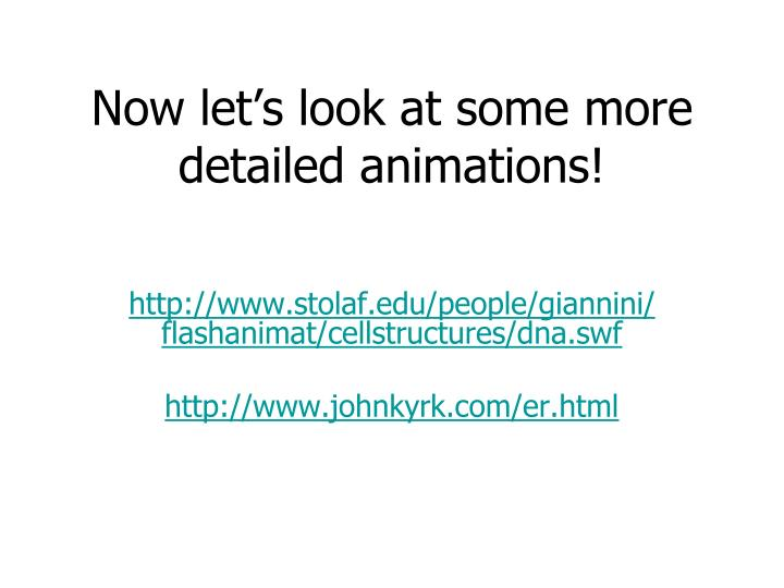 Now let's look at some more detailed animations!