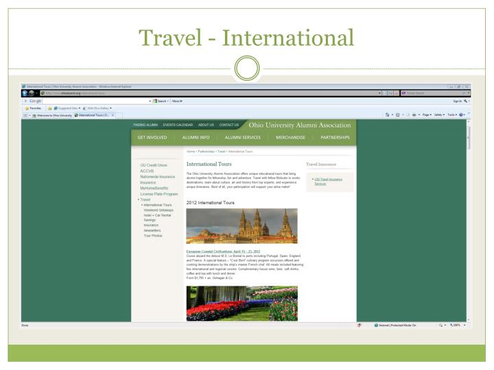 Travel - International