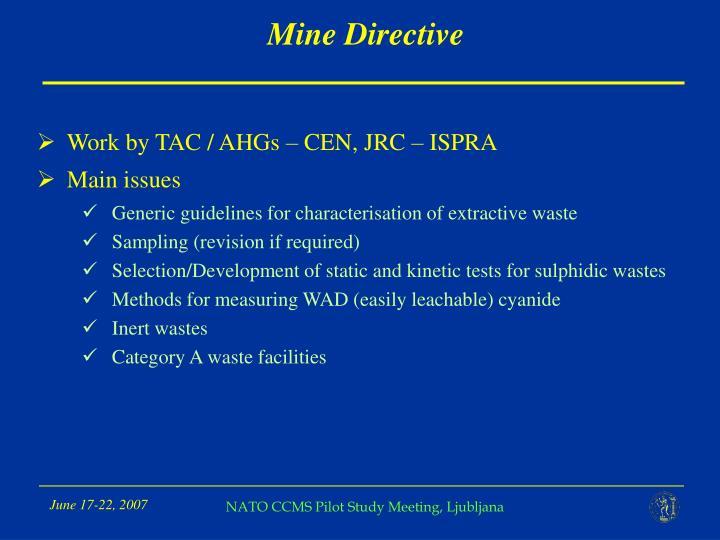 Mine Directive
