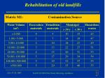 rehabilitation of old landfills1