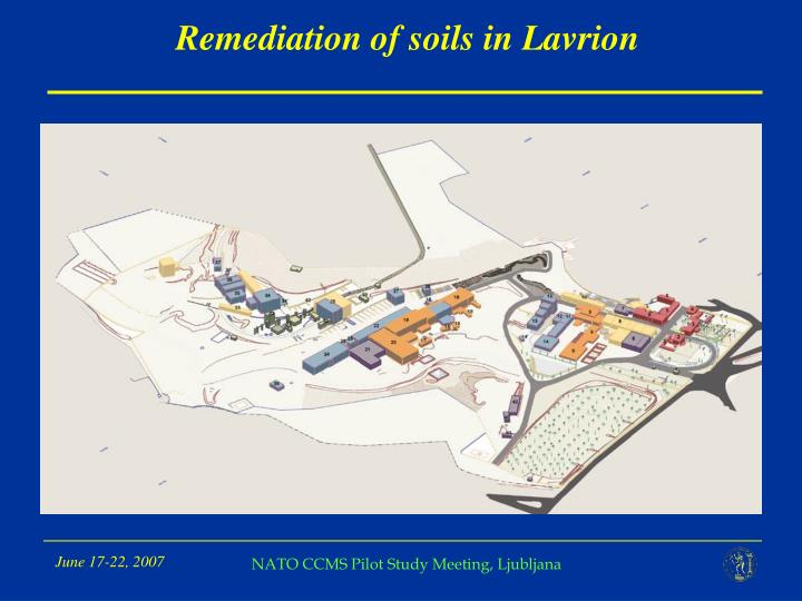 Remediation of soils in Lavrion