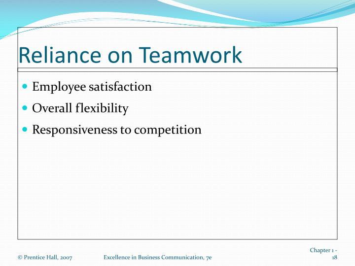 Reliance on Teamwork