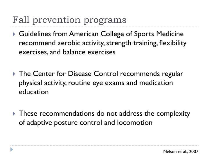 Fall prevention programs