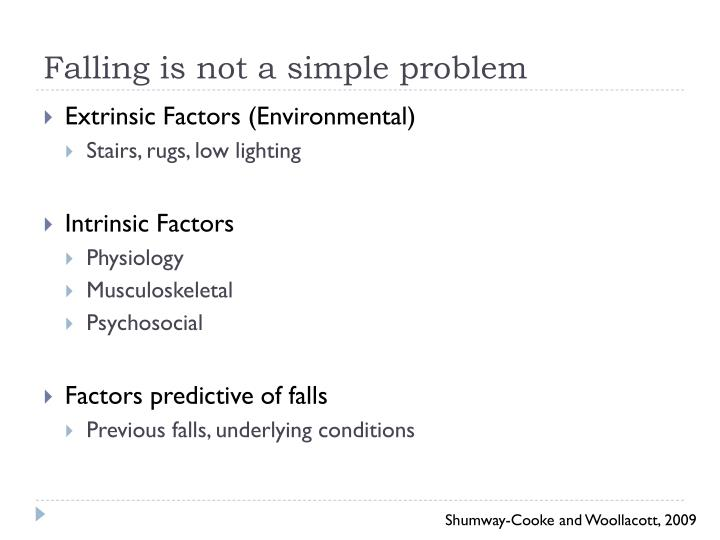 Falling is not a simple problem