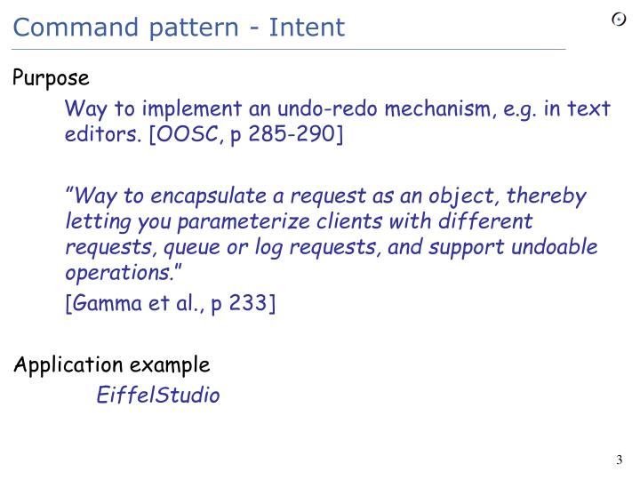 Command pattern intent
