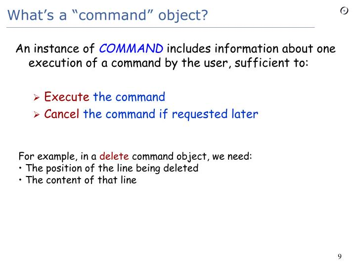 "What's a ""command"" object?"