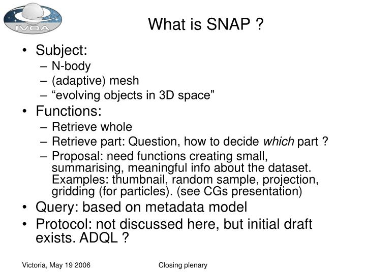 What is SNAP ?