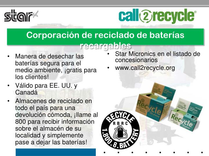 Corporación de reciclado de baterías recargables