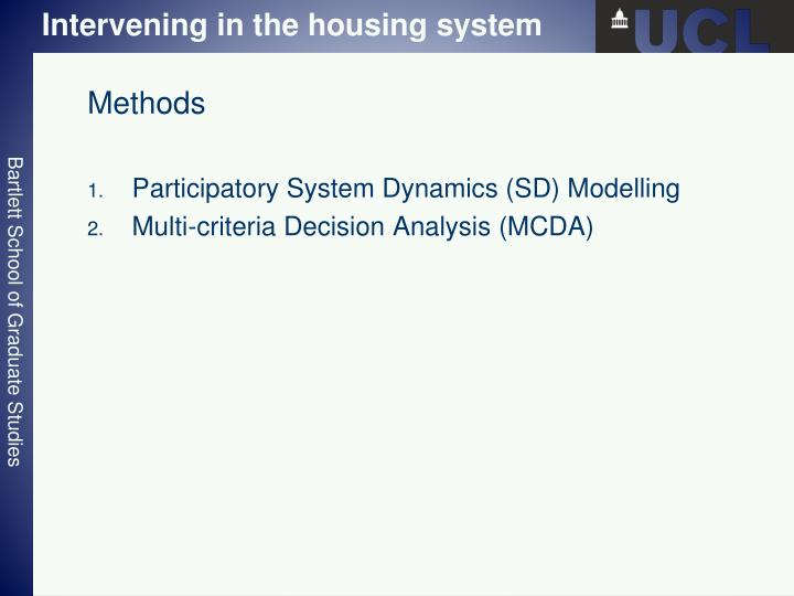 Intervening in the housing system