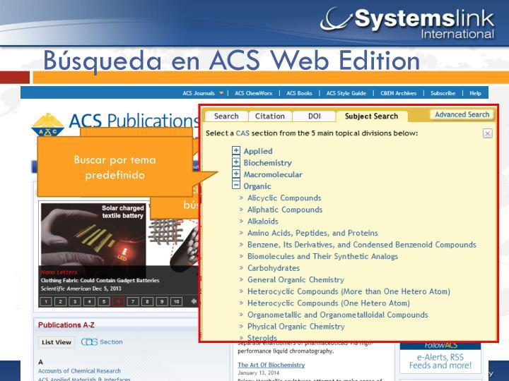 Búsqueda en ACS Web