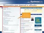 b squeda por journal o ebooks
