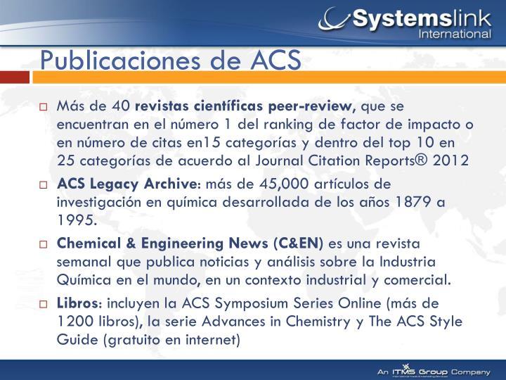Publicaciones de ACS