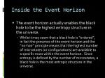 inside the event horizon