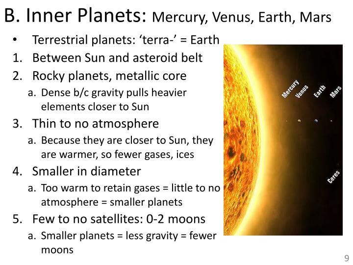B. Inner Planets: