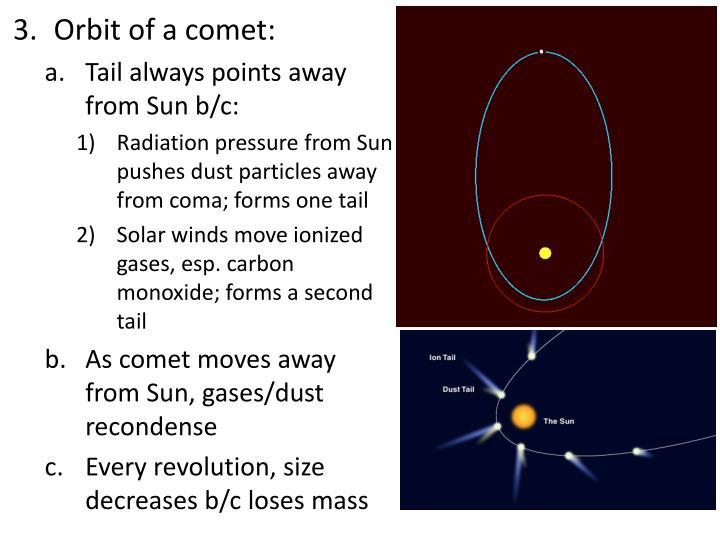 Orbit of a comet: