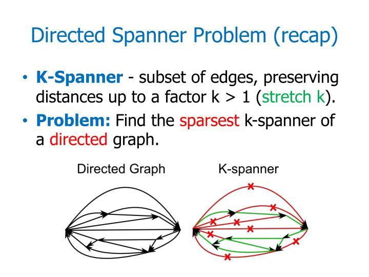 Directed Spanner Problem (reca