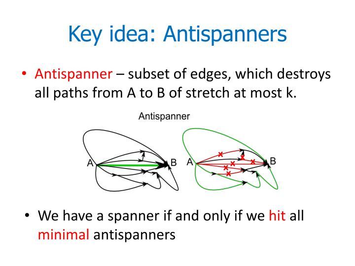 Key idea: