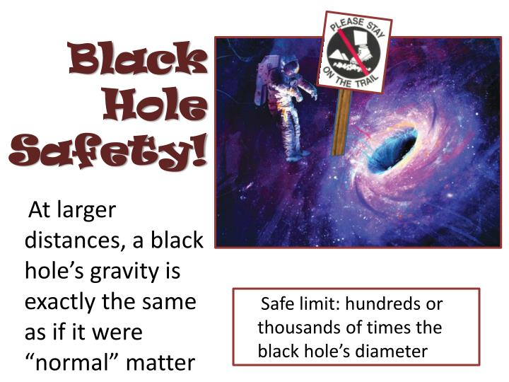 Black Hole Safety!