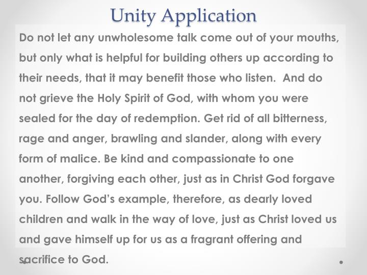 Unity Application