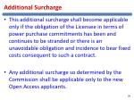 additional surcharge
