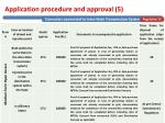 application procedure and approval 5
