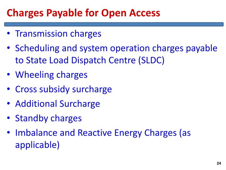 Charges Payable for Open Access