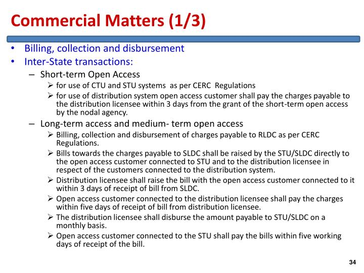 Commercial Matters (1/3)