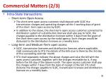 commercial matters 2 3