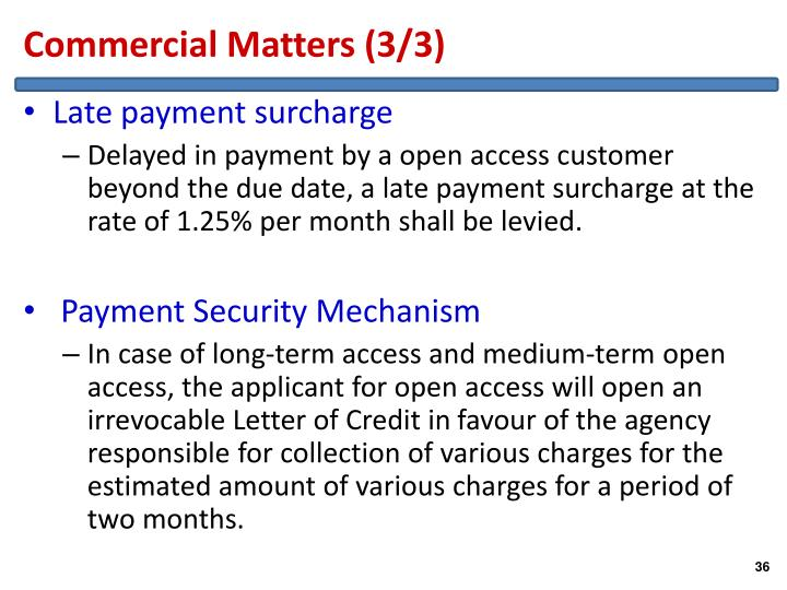 Commercial Matters (3/3)