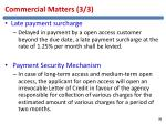 commercial matters 3 3
