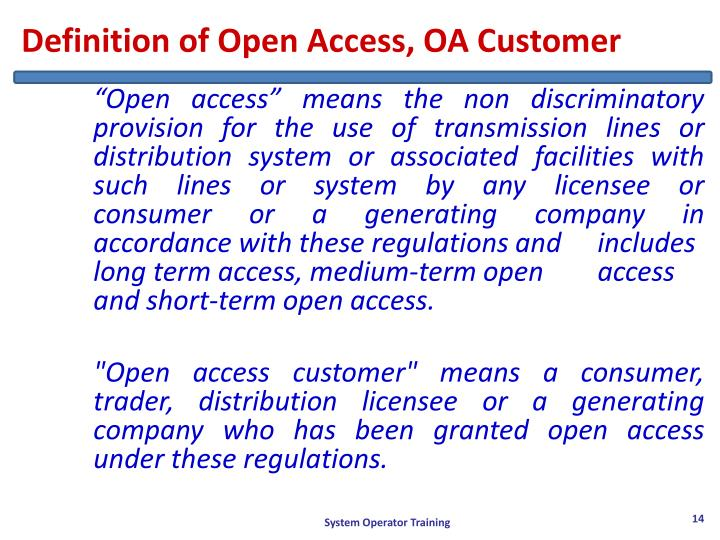 Definition of Open