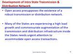 development of intra state transmission distribution network