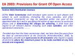 ea 2003 provisions for grant of open access1