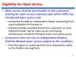 eligibility for open access