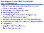open access in inter state transmission key success factors