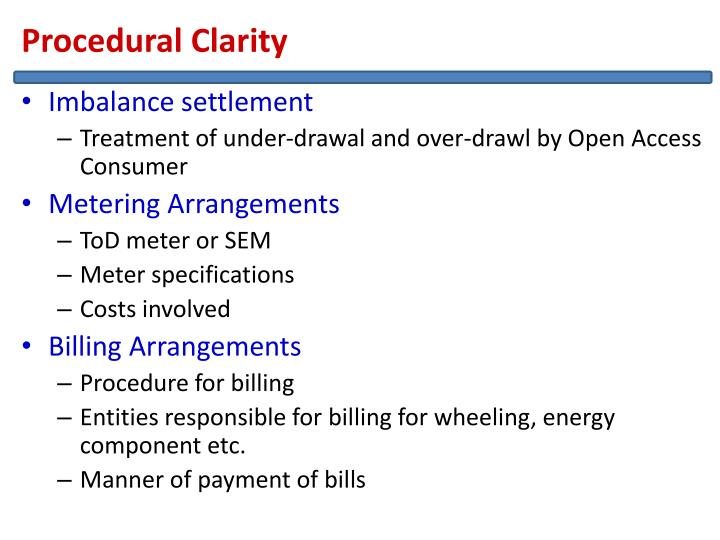 Procedural Clarity