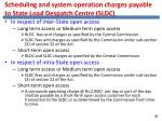 scheduling and system operation charges payable to state load despatch centre sldc