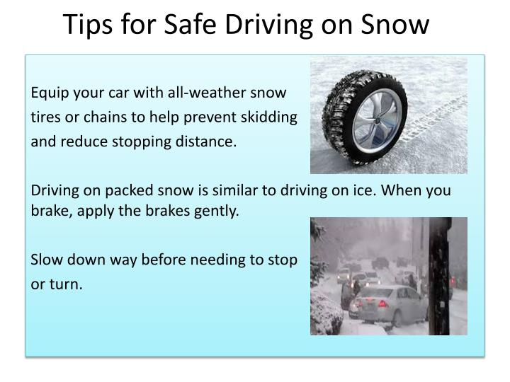 Tips for Safe Driving on Snow