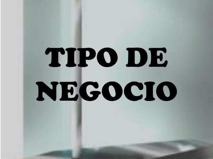 TIPO DE NEGOCIO