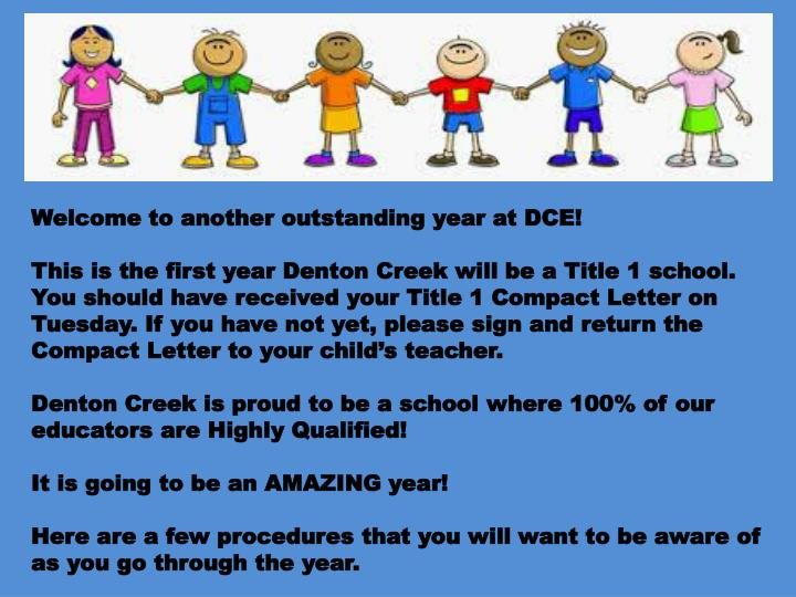 Welcome to another outstanding year at DCE!