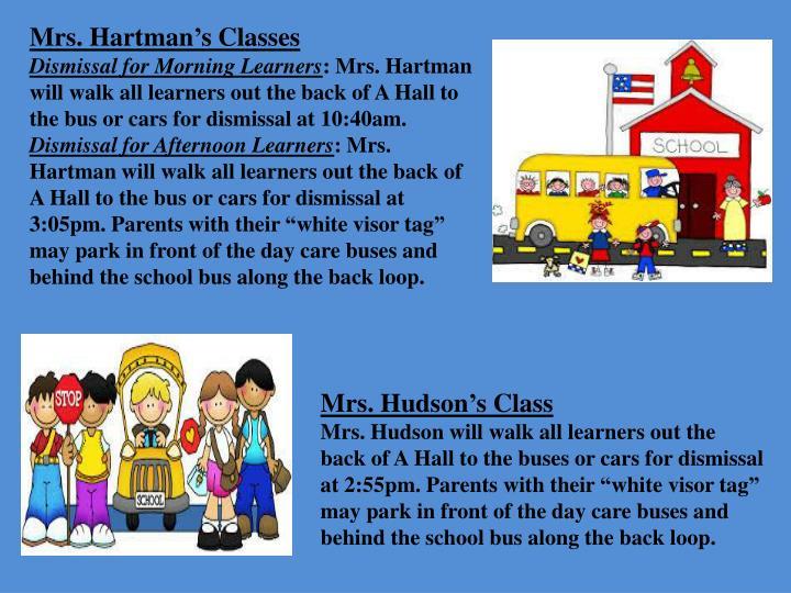 Mrs. Hartman's Classes