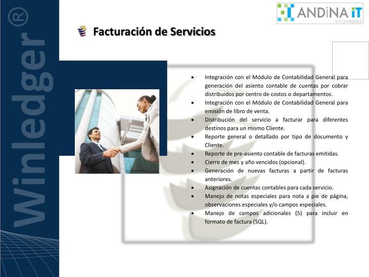 Facturación de Servicios