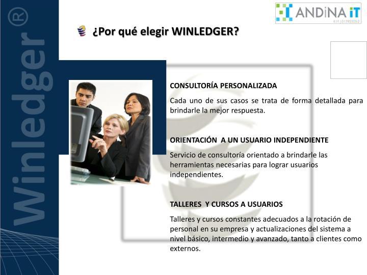¿Por qué elegir WINLEDGER?